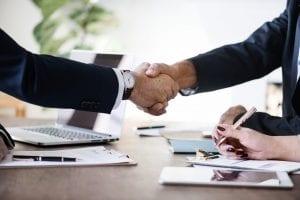 executive committee handshake